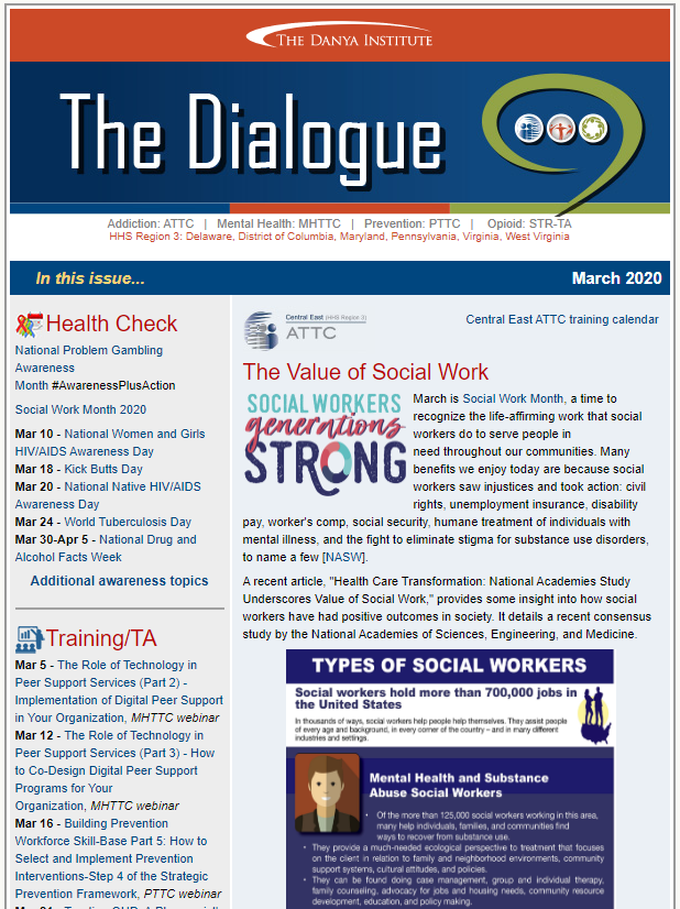 March 2020 Dialogue newsletter thumbnail