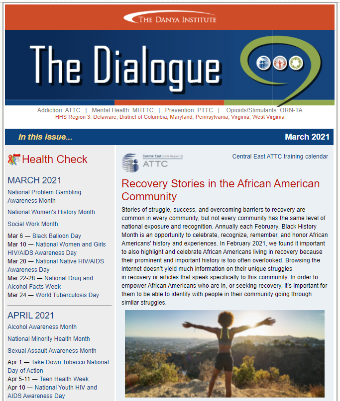 Dialogue eNewsletter thumbnail February 2021