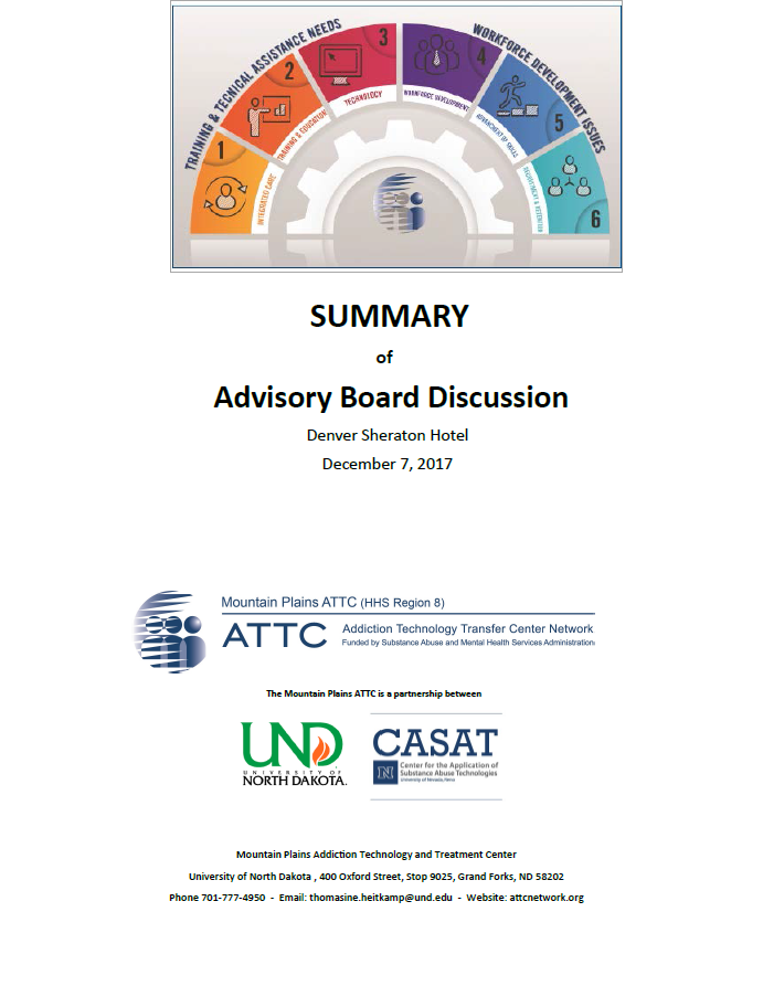 Advisory Board Summary