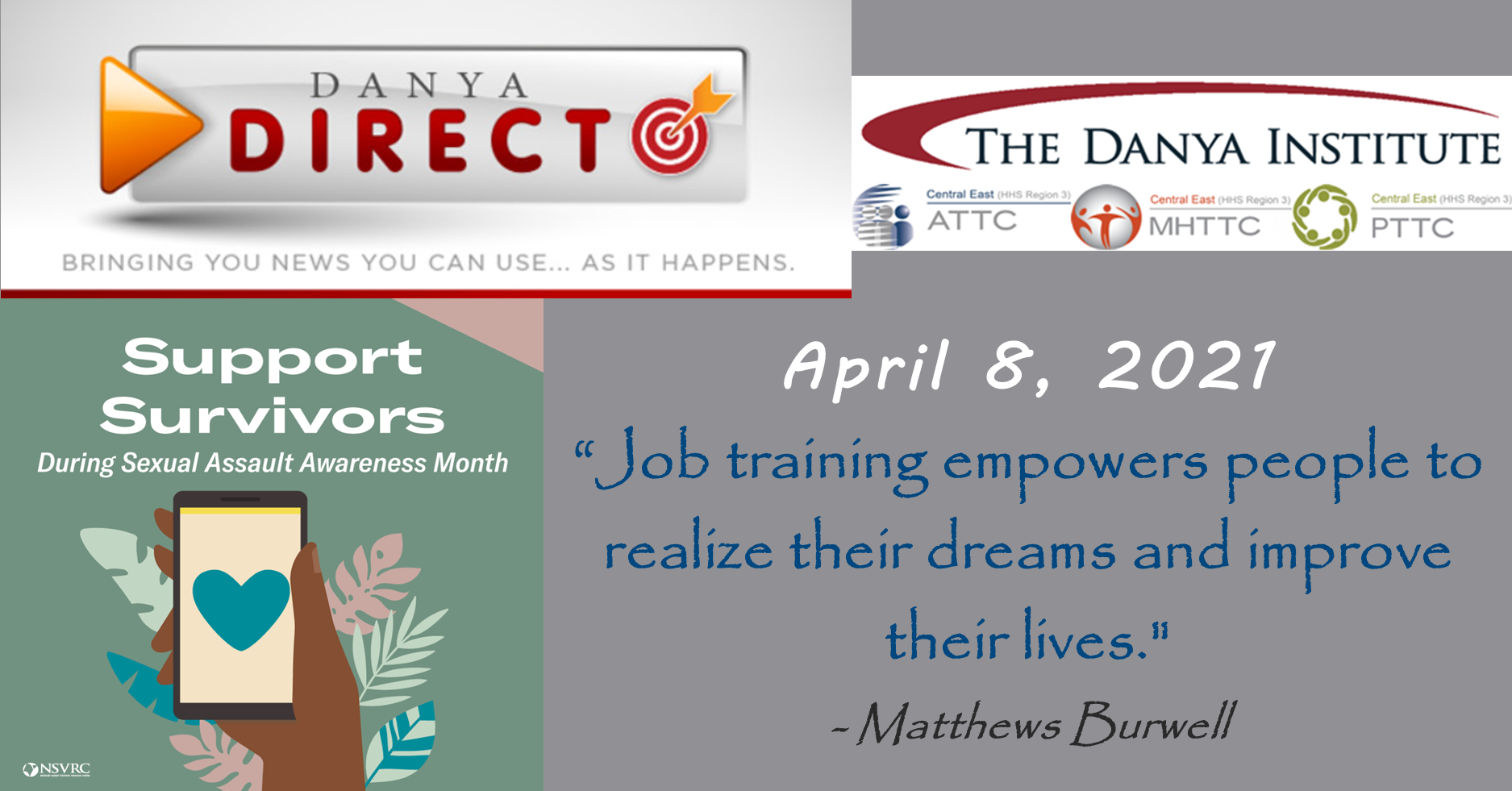 Danya Direct training bulletin 04/08/2021