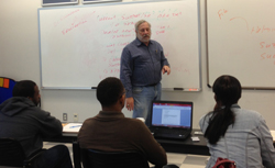 Houston Community College System Classroom with Instructor and Students