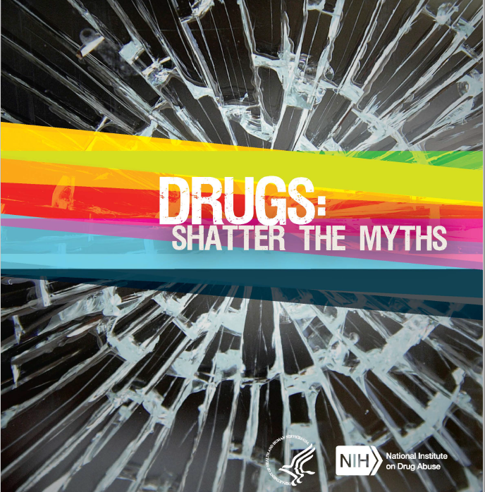 Cover page of Shatter the Myths booklet
