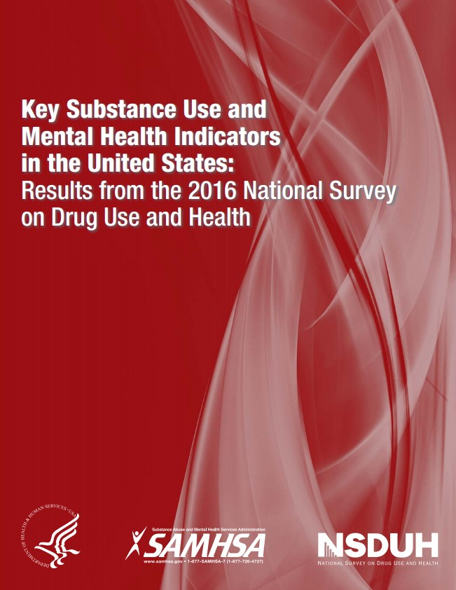 Cover of Key Substance Use and Mental Health Indicators in the United States: Results from the 2016 National Survey on Drug Use and Health