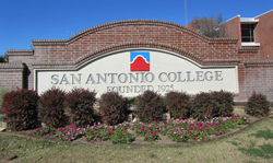 San Antonio College Campus Entrance Sign