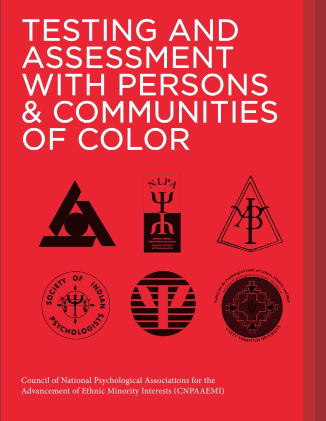 Photo of cover of TESTING AND ASSESSMENT WITH PERSONS & COMMUNITIES OF COLOR