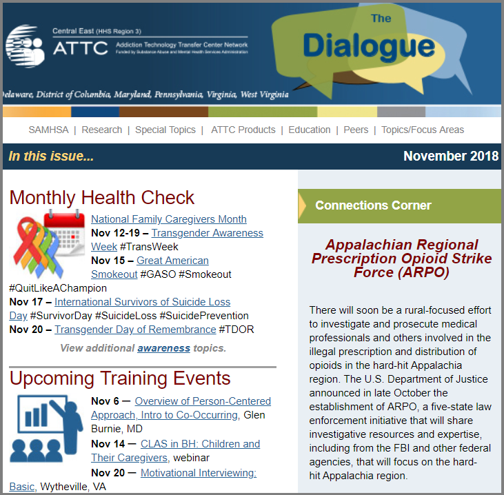 November 2018 Dialogue eNewsletter