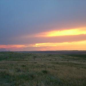 Sunset over Pine Ridge reservation