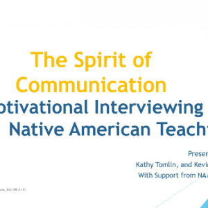 Front slide of Spirit of Communication presentation
