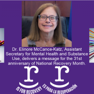 Recovery Month 2020 McCance-Katz video message graphic