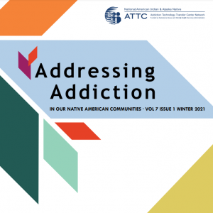 Screenshot of the front cover of the Addressing Addiction newsletter