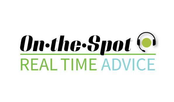 On the Spot: Real Time Advice
