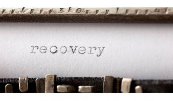 typewriter text of recovery