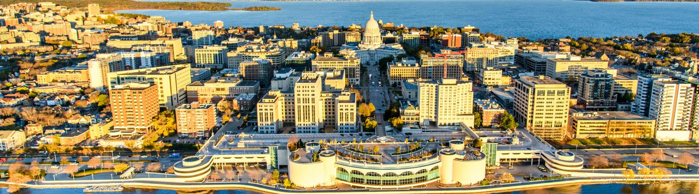 Aerial View of Madison, WI