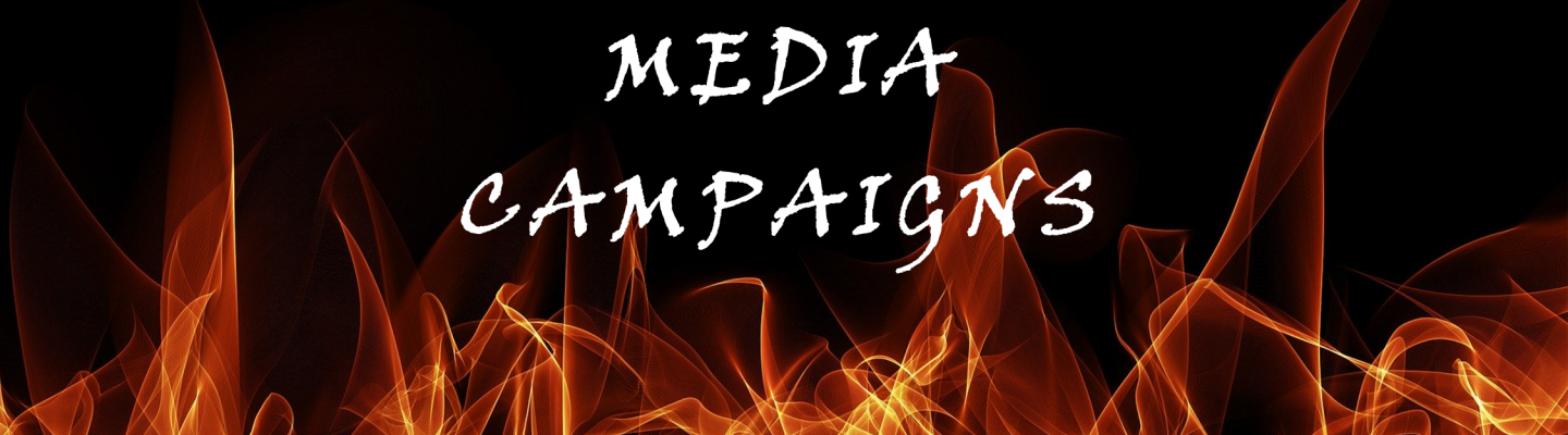 Media Campaigns graphic with fire